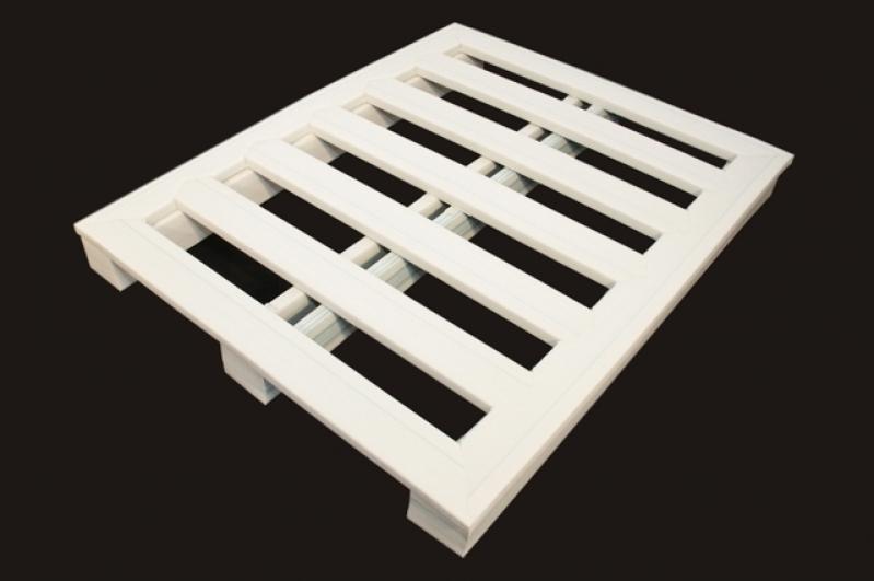 Pallet de Plástico para Exportação Melhor Preço Balsa Nova - Pallet de Plástico Liso