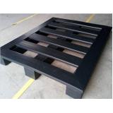 loja de palete de plástico 25x50x2 5cm - preto Londrina